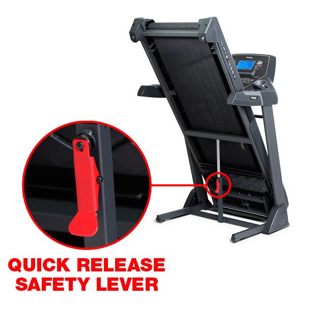 Frequency Fitness Wave 1000T Treadmill folding locking mechanism